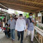 Cabup Paslon No 3, H.Muklis saat menuju lokasi kampanye