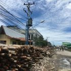 Tiang PLN Yang Ada Disepanjang Jalan Patunas Arah Roro